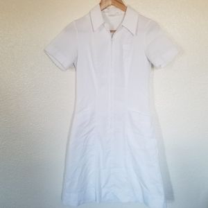 Vintage A Line Nurse Zip Up Pocket Dress